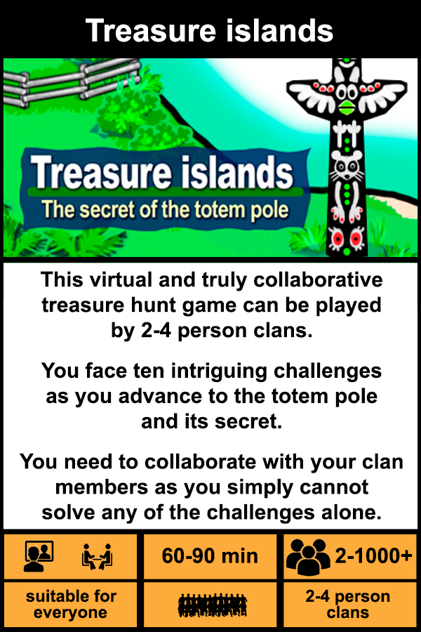 Virtual treasure island game